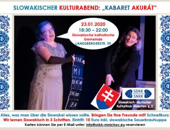 Slowakischer Kulturabend Einladung